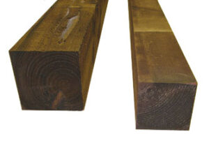 Brown Treated Fence Posts