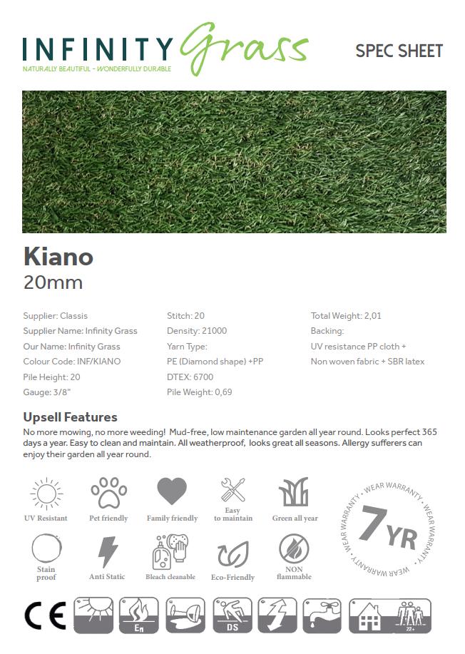 Kiano Spec Sheet